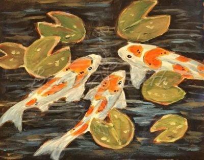 Koi Fish Teen Paint Party