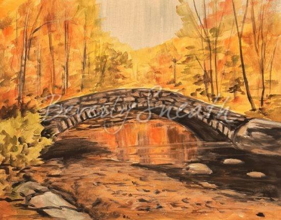 Autumn Bridge Paint Party