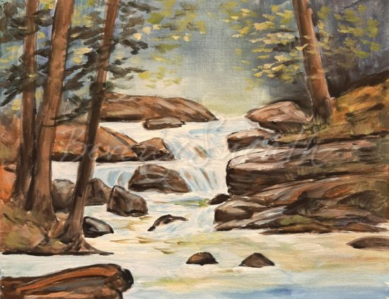 Waterfall Stream Paint Party